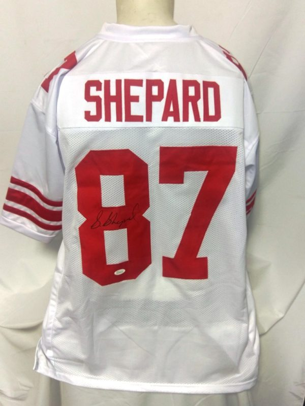 cheap for discount eb634 f9d5f Sterling Shepard Giants Autographed Custom White Jersey JSA